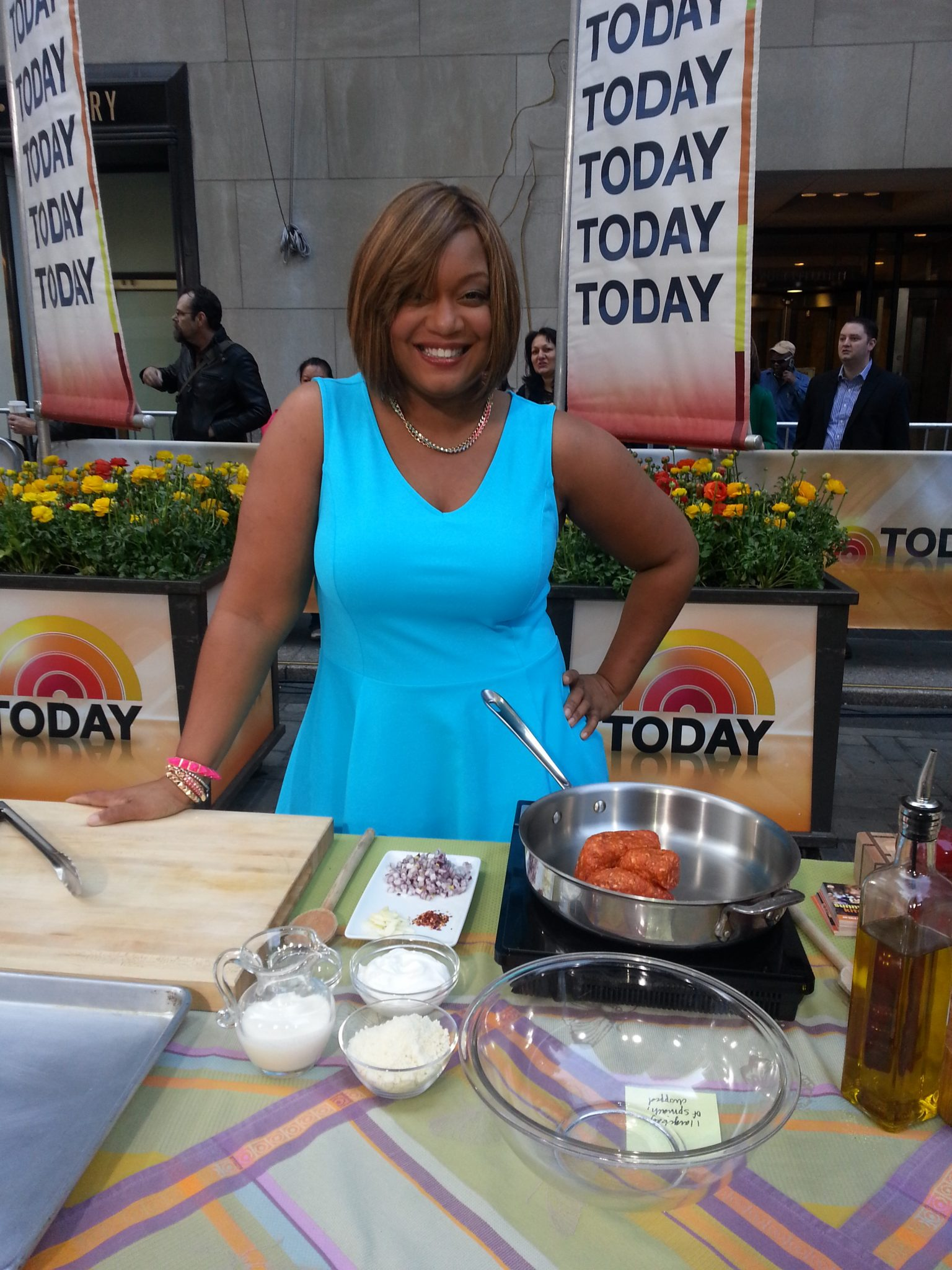 Watch Sunny grill up spring fun and remember the 80's on The Today Show!